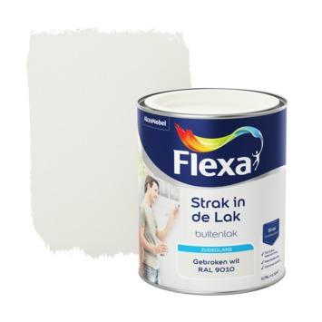 Flexa Strak in de Lak zijdeglans gebroken wit 750 ml
