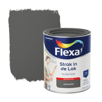 Flexa Strak in de Lak hoogglans antraciet 750 ml