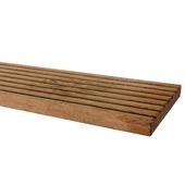 Vlonderplank Hardhout ca. 1,8x14,5 cm, lengte 180 cm