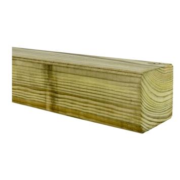 Tuinpaal geschaafd ca. 6,8x6,8 cm, lengte 270 cm