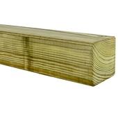 Tuinpaal geschaafd ca. 6,8x6,8 cm, lengte 180 cm
