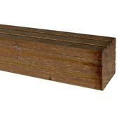 Tuinpaal hardhout geprofileerd ca. 6,5x6,5 cm, lengte 270 cm