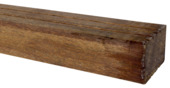 Tuinbalk onderregel hardhout ca. 4,4x6,7 cm, lengte 210 cm