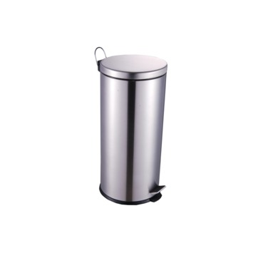 Pedaalemmer glans metaal 30 liter
