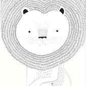Claas fotobehang leeuw beige