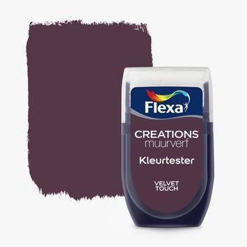 Flexa Creations muurverf Kleurtester Velvet Touch mat 30ml