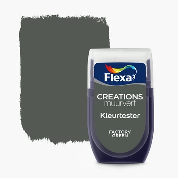 Flexa Creations kleurtester factory green