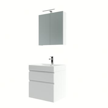 Bruynzeel Monta badmeubelset met spiegelkast 60 cm hoogglans wit