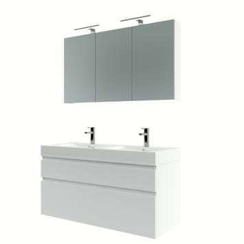 Bruynzeel Monta badmeubelset met spiegelkast 120 cm hoogglans wit