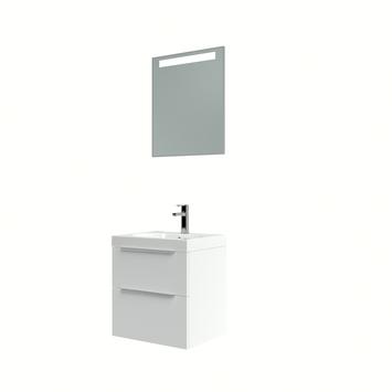 Muza badmeubelset 50cm hoogglans wit met spiegel