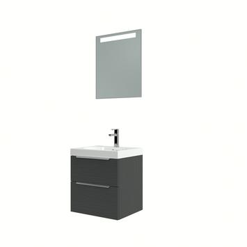 Muza badmeubelset 50cm hacienda zwart inclusief spiegel