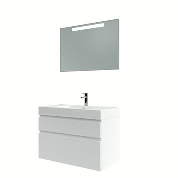 Bruynzeel Monta badmeubelset met spiegel 90 cm hoogglans wit