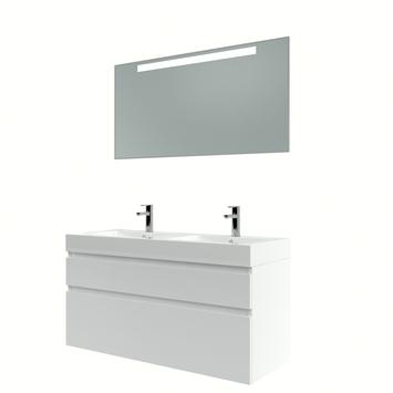 Bruynzeel Monta badmeubelset met spiegel 120 cm hoogglans wit