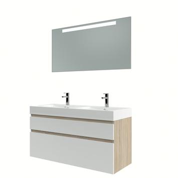 Bruynzeel Monta badmeubelset met spiegel 120 cm grijs eiken/wit