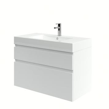 Bruynzeel Monta badkamermeubel 90 cm hoogglans wit