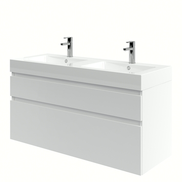 Bruynzeel Monta badkamermeubel 120 cm hoogglans wit