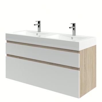 Bruynzeel Monta badkamermeubel 120 cm grijs eiken / hoogglans wit