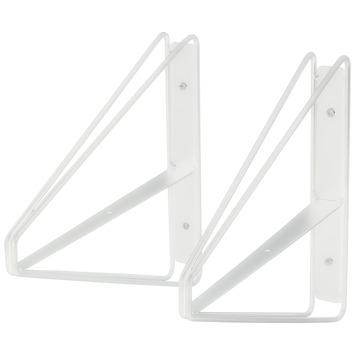 Duraline plankdrager dubbel hoog wit