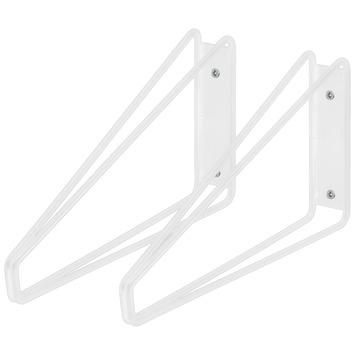 Duraline plankdrager dubbel laag wit