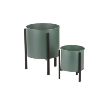Jessy plant standaard groen met pot - h29xd22cm