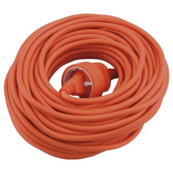 Verlengsnoer 10 Meter Oranje 2 x 1.0 mm2
