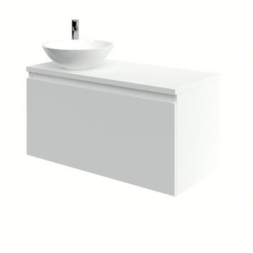 Bruynzeel Nerano badkamermeubel 100 cm mat wit waskom