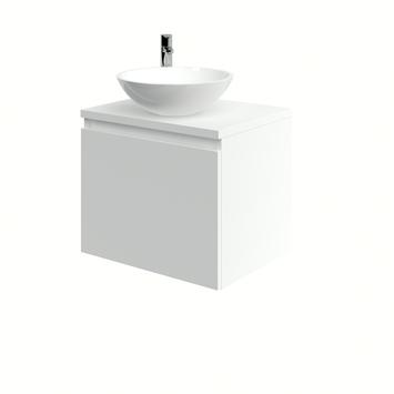 Bruynzeel Nerano badkamermeubel 60 cm mat wit waskom