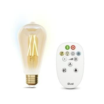 iDual Whites filament Edison E27 806lm gold incl. afstandsbediening