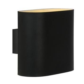 Lucide spot Ovalis zwart
