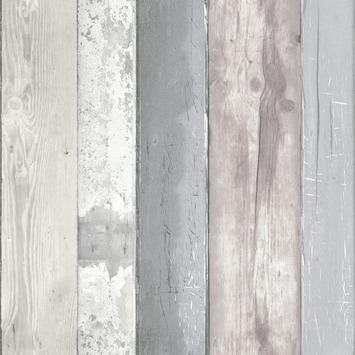 vtwonen vliesbehang steigerhout grijs (dessin 50-159)