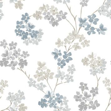 vliesbehang bloesem blauw (dessin 2258-41)