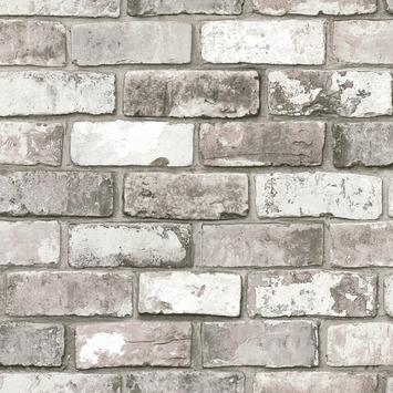 vtwonen vliesbehang baksteen grijs (dessin 50-158)