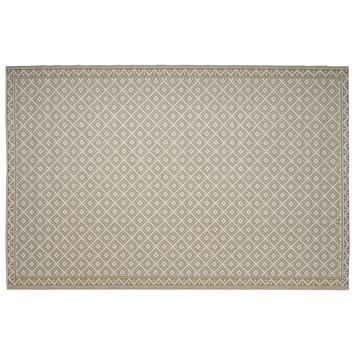 Buitenvloerkleed Ibiza zand/ wit 160x230 cm