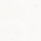 Vinylbehang ster wit (dessin 14049)