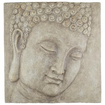 wanddecoratie boeddha bruingrijs kopen wanddecoratie