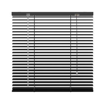 KARWEI horizontale aluminium jaloezie 25 mm zwart (203) 220 x 180 cm