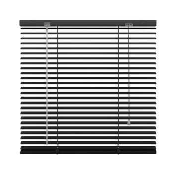 KARWEI horizontale aluminium jaloezie 25 mm mat zwart (320) 120 x 130 cm