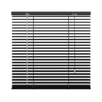 KARWEI horizontale aluminium jaloezie 25 mm mat zwart (320) 60 x 250 cm