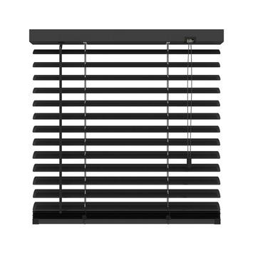 KARWEI horizontale aluminium jaloezie 50 mm mat zwart (320) 80 x 180 cm (bxh)