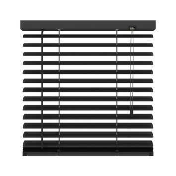 KARWEI horizontale aluminium jaloezie 50 mm mat zwart (320) 100 x 180 cm