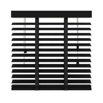 KARWEI horizontale houten jaloezie 50 mm mat zwart (947) 140 x 180 cm