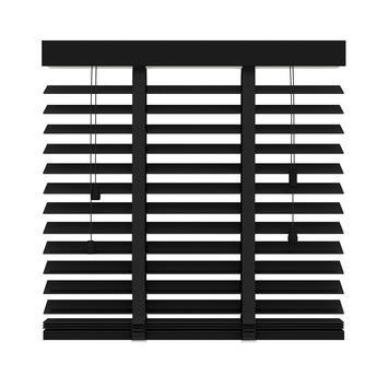 KARWEI horizontale houten jaloezie 50 mm mat zwart (947) 160 x 180 cm (bxh)