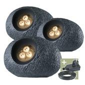 Ludeco tuinspot Ingor 12V startersset grijs 3 stuks