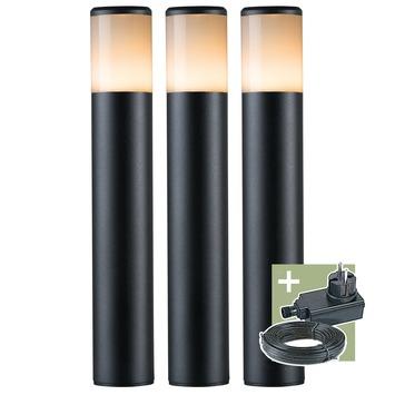 Ludeco tuinpaal Ivan 12V startersset  zwart 3 stuks