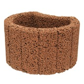 Bloembak bruin rond 28x35x20 cm