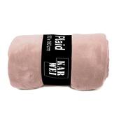 Plaid Fleece 130x180 Pastel Peach