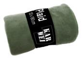 Plaid Fleece 130x180 Klavergroen
