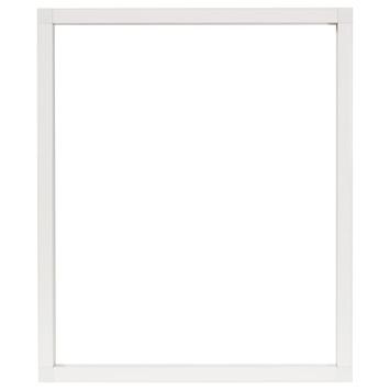 Opbouwkader 130x260 cm RAL9010 wit