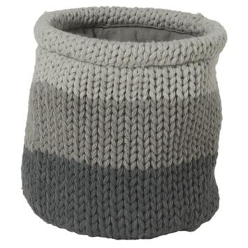 Sealskin Opbergmand Knitted Acryl Grijs