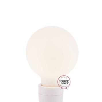 Snoerboer LED globe frosted Ø 95mm E27 4,5W dimbaar